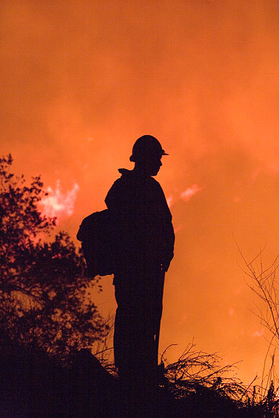 Firefighter At Poomacha Fire In California